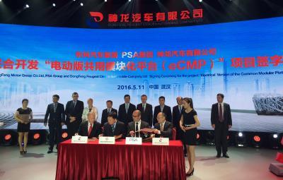 Groupe PSA - Dongfeng, platforma e-CMP