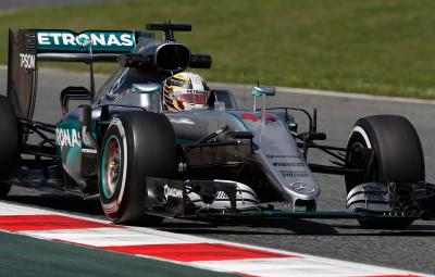 Lewis Hamilton - pole position Barcelona 2016