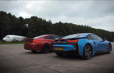 Liniuta BMW i8 vs BMW M4 Coupe