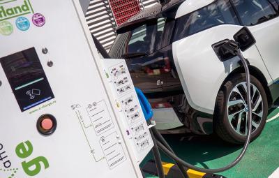 BMW i3 - incarcare Kaufland Ploiesti