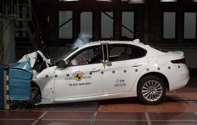 Alfa Romeo Giulia - teste Euro NCAP